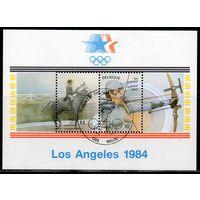 Спорт Бельгия 1984 год 1 блок со спецгашением