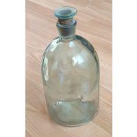 Бутыль аптекарская 2 литра со стеклянной пробкой