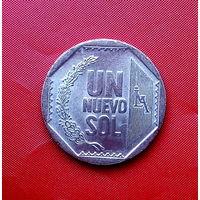 87-21 Перу, 1 новый соль 2007 г. Единственное предложение монеты данного года на АУ
