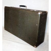 Большой фибровый чемодан 60-е гг СССР 70 х 42 х 19 см