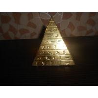 Шкатулка египедская пирамида латунь