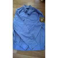 Рубашка с поясом МВД (рост 188, размер 52-54) б/у, тёмная