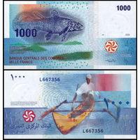 Коморские о-ва 1000 франков 2005 UNC