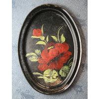 Поднос, тарелочка с ручной росписью