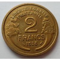 """Франция 2 франка 1938 """"Женщина символизирующая свободу"""""""