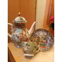 Чайник+чашка с блюдцем Китай