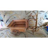 Велосипед- корзинка. деревянный