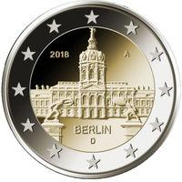 2 евро 2018 Германия A Берлин UNC из ролла
