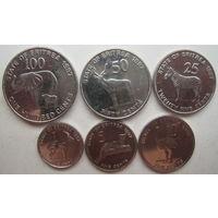 Эритрея 1, 5, 10, 25, 50, 100 центов 1997 г. Комплект (g)