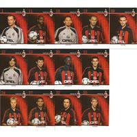 """""""Милан""""(Италия). Большие карточки игроков клуба(13шт.). Сезон 2001/2002."""