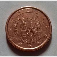 1 евроцент, Испания 2006 г.