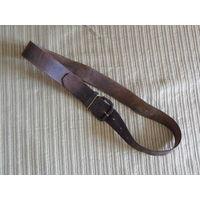 Старинный ремень кожаный винтажный одношпеньковый