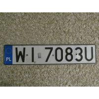 Автомобильный номер Польша WI7083U