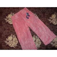 Велюровые розовые штанишки