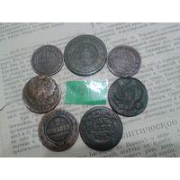 С рубля! 7 монет РИ (лот#6.Z)