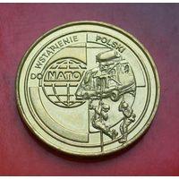 2 злотых 1999 Польша Вступление в НАТО (Wstapienie Polski do NATO)