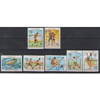 Кампучия Олимпийские игры в Лос-Анджелесе 1983 год гашеная серия из 7-ми марок