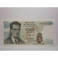 Бельгия  20 франков  1964 г.