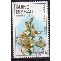 Гвинея-Бисау 1989 Флора Цветы Орхидеи.