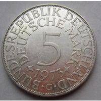 ФРГ. 5 марок 1973 G, Серебро