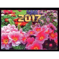 1 календарик 2017 год Маки