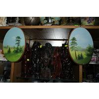 2 картинки на дереве