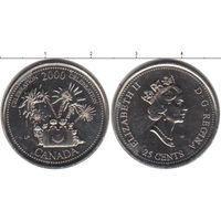 Канада 25 центов 2000 Празднование UNC