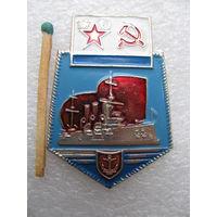 Знак. ВМФ СССР. Эмблема Крейсер Аврора Министерства обороны СССР. Al, булавка