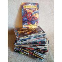 Карточки Человек-Паук 80 шт Герои и злодеи Marvel