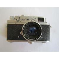 """Фотоаппарат """"Зоркий-3С"""".  объектив Юпитер-8.  1956г (взводится, щелкает)"""