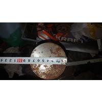Цельный металлический цилиндр из металла 30х7.8см, заготовка для токаря.