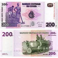 Конго 200 франков  2013 год  UNC