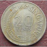 3253:  20 центов 1967 Сингапур