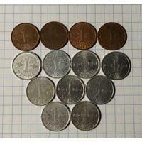 Финляндия 1 пенни, погодовка
