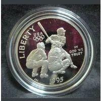 США 1/2 доллара 1995 S. Олимпиада. Атланта. Бейсбол.