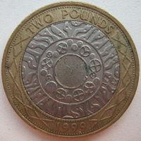 Великобритания 2 фунта 1999 г.