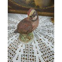 Красивая статуэтка охота Коллекционная куропатка фарфор ручная роспись