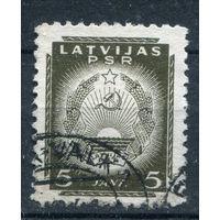 Латвия - 1941г. - Латвийская ССР, герб (5) - 1 марка - гашёная (Лот 88М). Без МЦ!