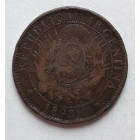 Аргентина 2 сентаво, 1893 4-15-15