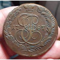 5 копеек 1787 год КМ! Кладовая! Хорошая монета!