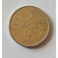 Египет, 10 пиастров 2008 г.
