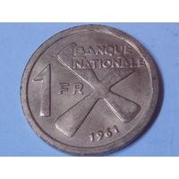 Катанга 1 франк 1961г.