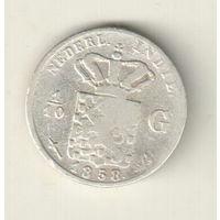 Голландская Индия 1/10 гульдена 1858