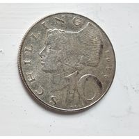 Австрия 10 шиллингов, 1958 Ag 5-4-4