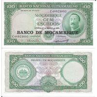 Мозамбик 100 эскудо образца 1961 года UNC p109b(2)
