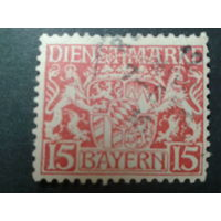 Германия Бавария 1916 служебная марка, герб