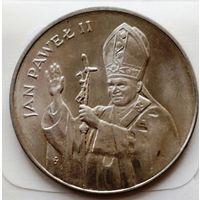 """Польша 10 000 злотых """"Визит Папы Иоана Павла II"""" 1987 UNC"""