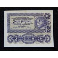 Австрия 10 крон 1922 г UNC