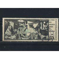 Чехословакия ЧССР 1966 30 летие интербригадам в Испании Пикассо Герника #1637