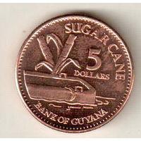 Гайана 5 доллар 2012
